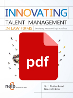 Innovating Talent Management: Ch. 5 - Can Competencies Drive Change in the Legal Profession?