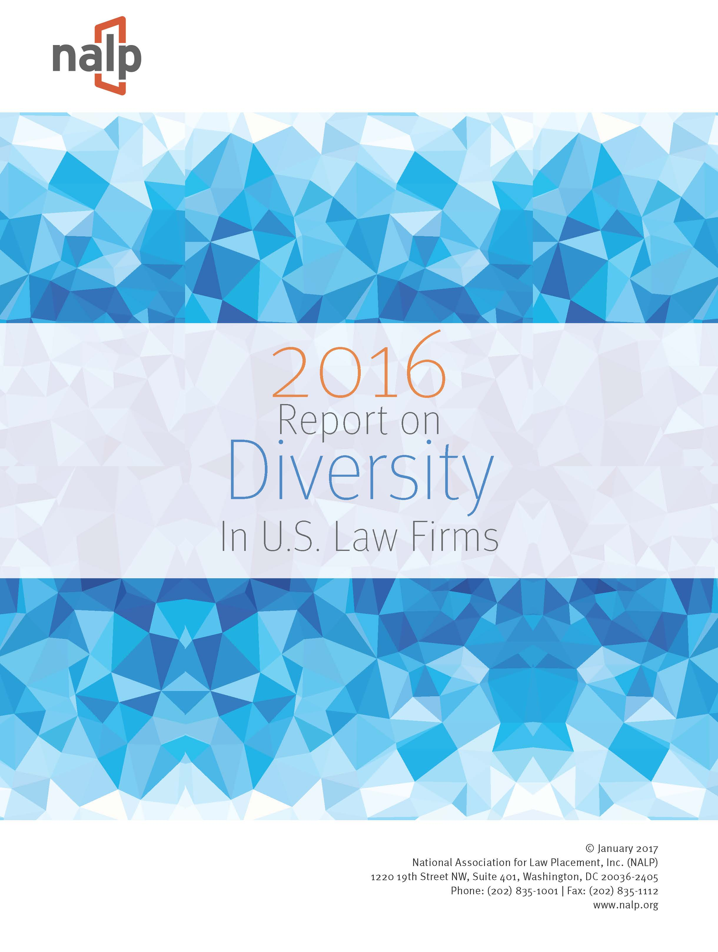 NALP 2016 Report on Diversity in U.S. Law Firms