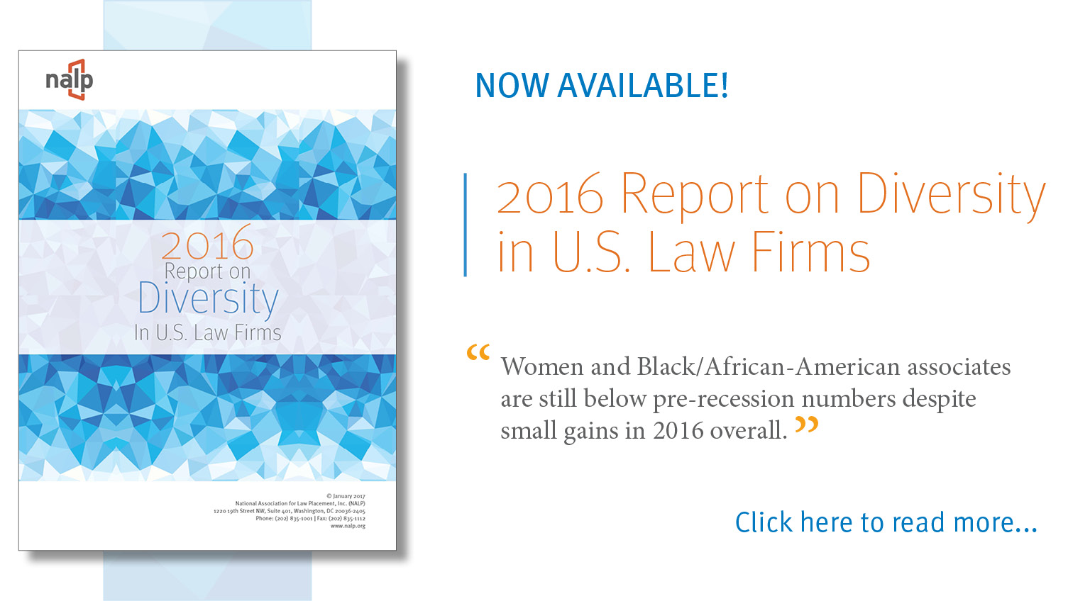 2016 Report on Diversity in U.S. Law Firms Feature Image