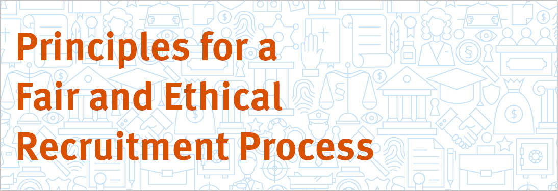 Principles for a Fair and Ethical Recruitment Process