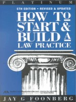 How to Start and Build a Law Practice, 5th Edition